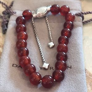 Authentic David Yurman Beads Garnet Bracelet